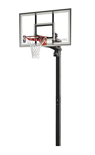 Spalding In-Ground Basketball System with Glass Backboard, 60 x 34-Inch