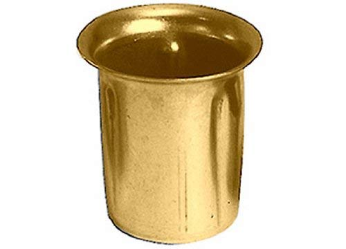 National Artcraft Brass Plated Candle Cup Can Be Used in Lamp Or Candle Making Projects (Pkg/20)
