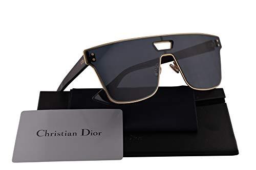 Christian Dior Diorizon1 Sunglasses Gold Burgundy w/Blue Mirror Gradient Gold Lens 99mm NOAA9 Diorizon1S Diorizon1/S Diorizon 1S Diorizon 1/S Diorizon ()