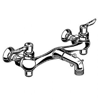 American Standard 8350235.002 Service Sink Faucet, Spout, Supply Stops, - Heritage Standard American Faucet