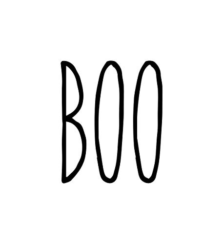 Font Halloween 2 - Boo Vinyl Sticker - Farmhouse Style