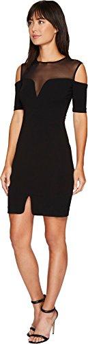 Nicole Miller Women's Cold Shoulder Party Dress Black 12
