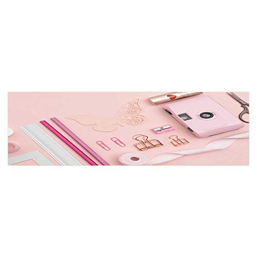 Leighhome Background Decoration Stationery on a Pink Background Home Decoration L35.4 x ()