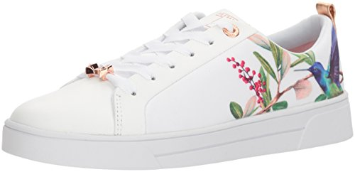Ted Lace Up Sneakers (Ted Baker Women's Ahfira Sneaker, Highgrove Hummingbird, 8 B(M) US)