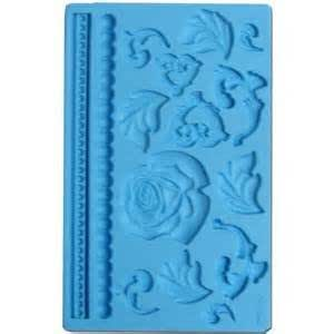 Baroque Rose gum paste mould for cake decorating