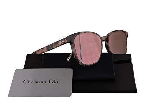 - Dior Christian DiorStep Sunglasses Havana Rose w/Grey Rose Gold Mirror Lens 55mm 3Y6R2 DiorSteps DiorStep/s Step