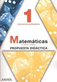 Descargar Libro Eso 1 - Matematicas Guia Jose Colera Jimenez