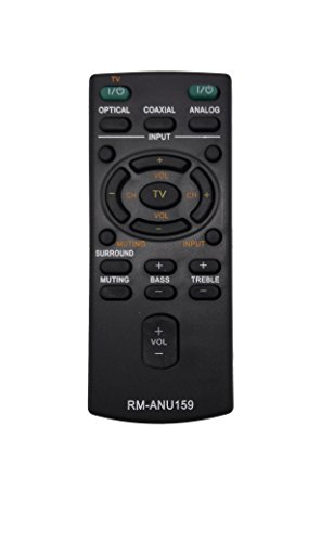 econtrolly New Replaced RM-ANU159 Remote Control Fit for Sony Sound Bar HT-CT60 HT-CT60/C SA-CT60 SS-WCT60 RMANU159 -  econtrolly factory, LYSB01N0OW4MS-ELECTRNCS