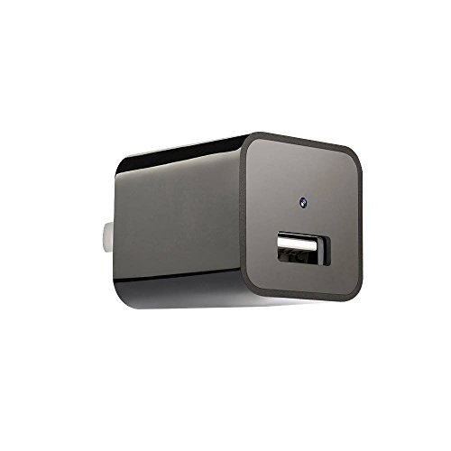 Hidden Camera Charger by Peep Port | 1080p 32GB Spy Camera / USB Charger featuring Motion Detection operating system | Records up to 8 Hours of Movement Only Video