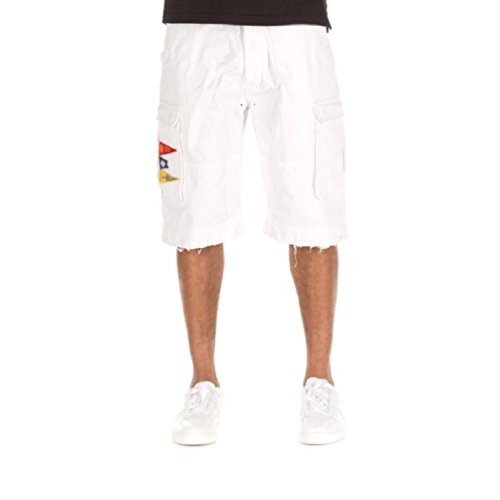 Hustle Gang Vanguard Shorts (30, White)