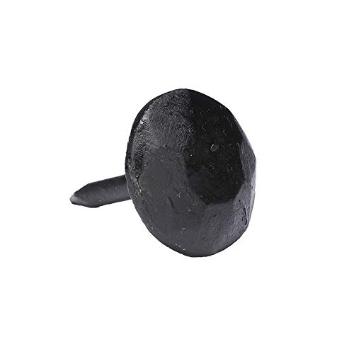- A29 Hardware (Set of 12) 1 x 1 Inch Round Iron Clavos Decorative Nails, Hand Forged, Natural Black Finish
