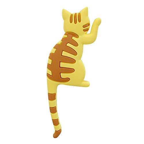 (Wrea Cute Cartoon Animal Stereo Refrigerator Magnets Hanging Hook Home Decoration Fridge Funny Stickers)