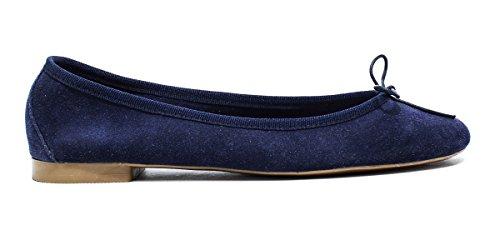 ROUGE CARPE Zapatos de mujer con tacón, tacón, nueva colección de verano 2016 de gamuza azul PRIMAVERA