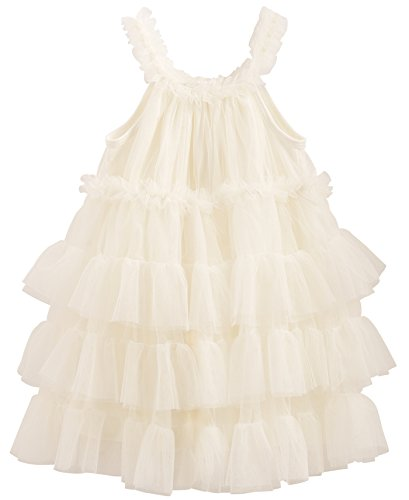 - Mud Pie Baby Girls' Holiday Dress, Ivory Mesh, 9-12 Months