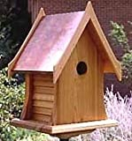 Cheap Cottage Bird House w/Copper Roof