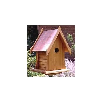 Amazon Com Cottage Bird House W Copper Roof Garden