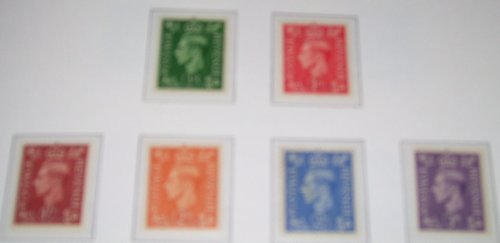 VI HEAD, AS 462/7, WITH LIGHT BACKGROUND, SET OF 6, UNMOUNTED MINT. (Unmounted Mint)