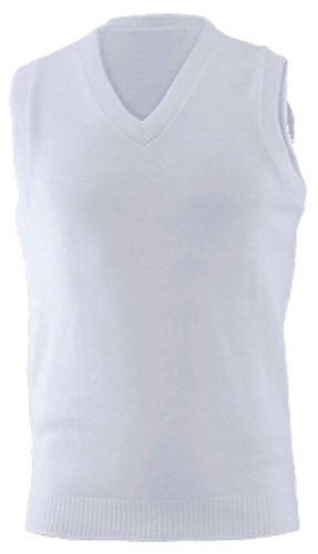Vest Sweater Performance V-neck (Edwards Garment Sleeveless V-Neck Durable Sweater Vest, WHITE, Medium)