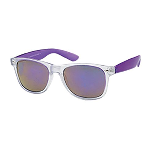 nbsp;uv Chic Wayfarer 400 Miroir net Nerd Transparente Large Sangle Coloré vqRqTOU