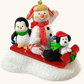Snow What Fun Sledders 2008 Hallmark Keepsake Ornament