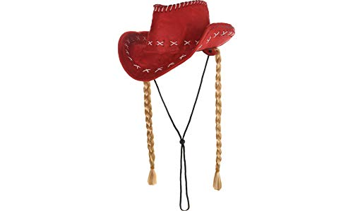 Adult Cowgirl Hat with Braids -