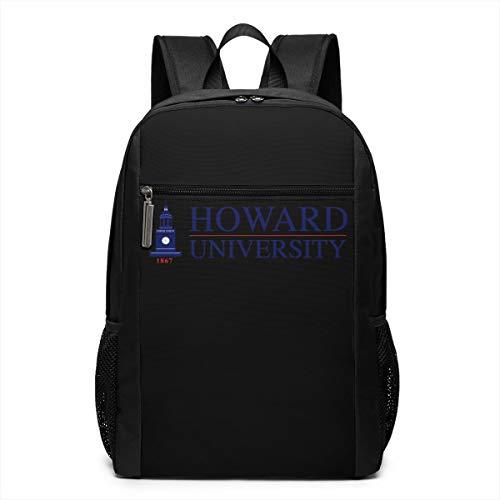 (Backpack, Travel Hiking Howard University Logo Backpacks Lightweight Mens Womens Unisex Computer Gaming Laptop Shoulder Bag Outdoor Backpacks For Men Women Adults)