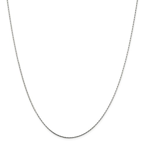 925 Sterling Silver 1mm Oval Link Box Chain Necklace 20 Inch Pendant Charm Fine Jewelry Gifts For Women For Her
