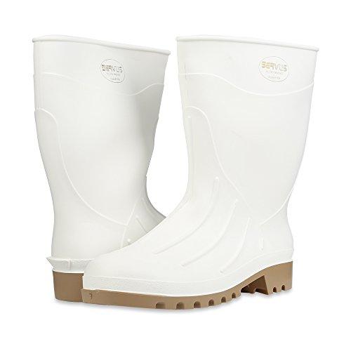 """Servus 12"""" PVC Polyblend Soft Toe Shrimp Boots, White (74928) - Image 6"""