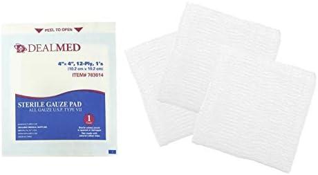 dealmed almohadillas de gasa estéril, individualmente envuelto ...