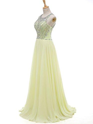 Beaded Prom Long Bridesmaid Mint Solovedress Evening Gown Dress Chiffon Women'Cap Sleeves BPZOZC