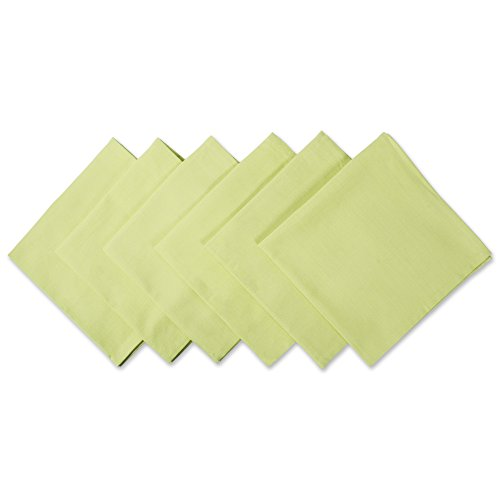 DII 100% Cotton Cloth Napkins, Oversized 20x20 Dinner Napkins, For Basic Everyday Use, Banquets, Weddings, Events, or Family Gatherings - Set of 6, Fresh Green