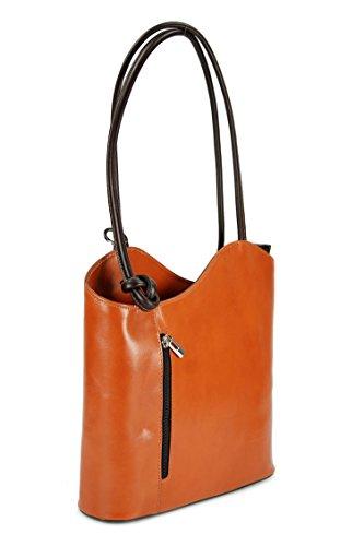 main 28x28x8 au cm H cognac femme dos Sac pour marron Multicolore x x porté T B Multicolore à Belli IwqEvcS