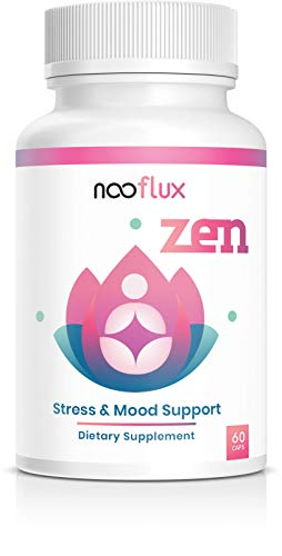 Adrenal Support, Anxiety & Stress Relief - Cortisol Manager - Crafted w/Relaxing Adaptogens & Plant Based Vitamins - Ashwagandha Root Rhodiola Rosea Kava Kava L Theanine Saffron - Zen by Nooflux