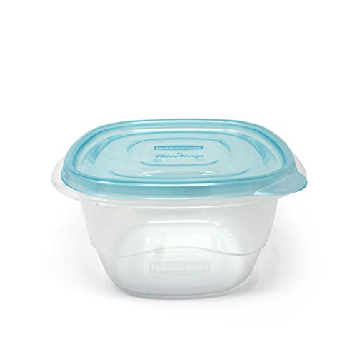 Measuring Cup Case Pack - Rubbermaid TakeAlongs 4-Cup Deep Square Food Storage Containers, 5-Pack, Blue