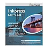 Inkpress Matte 60 Single Sided Bright White Inkjet Paper, 10 mil., 200gsm., 13x19'', 250 Sheets