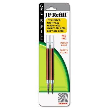 Zebra, JF-Refill, 0.7mm, Red, 2 Pack (87032)