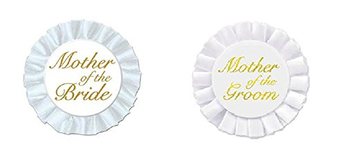 Mother of the Bride and Mother of the Groom Satin Buttons]()