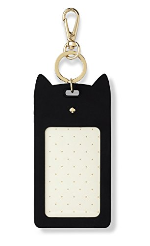 Kate Spade New York Id Badge Clip Key Chain, Black Cat