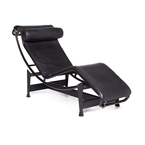 Cassina Le Corbusier LC 4 Designer Leather Lounger Black Relax ()