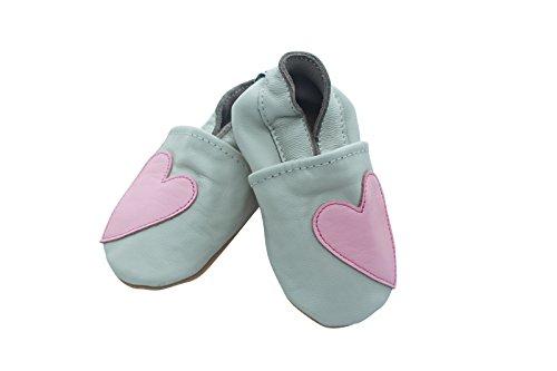 Engel + Piraten Krabbelschuhe Markenqualität Aus Deutschland - Viele Modelle bis 4 Jahre Babyschuhe Leder Lauflernschuhe Lederpuschen Herz Rosa