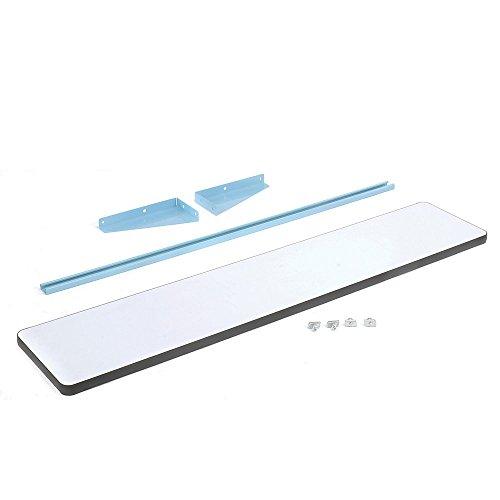 (Pro-Line CSPL1272P/L14 Cantilever Shelf with Plastic Laminate, Light Blue Frame)