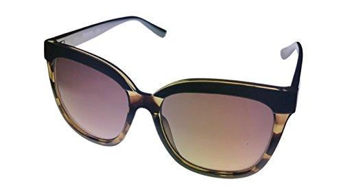 (Kenneth Cole Reaction Womens Square Blonde Havana Brown Plastic Sunglass KC1320 52F )