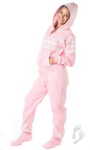 Joggies - - Nordic Pink Adult Hoodie Onesie - XSmall