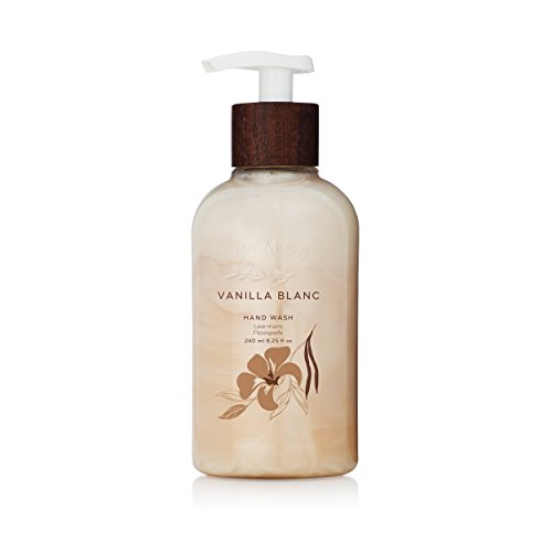 Thymes - Vanilla Blanc Hand Wash with Pump - Hydrating Liquid Hand Soap with Warm Madagascar Vanilla Scent - 8.25 oz - Frasier Fir Hand Lotion