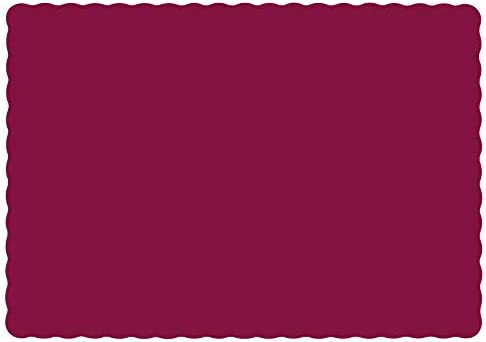 Hoffmaster Burgundy Paper Placemats Scalloped Edge | 50 per Pack