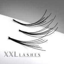 200 Pestañas Flare con nudo, en bolsitas asequibles de relleno en los largos 6 - 15 mm Size Largo: 14 mm XXL Lashes