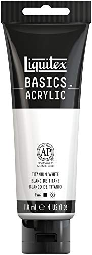 Liquitex Basics Acrylic Paint, 4 Fl Oz (Pack of 1), Titanium White