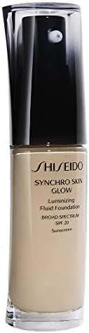 Shiseido Synchro Skin Glow Luminizing Fluid Foundation Spf 20, No.01 Neutral, 1 Ounce