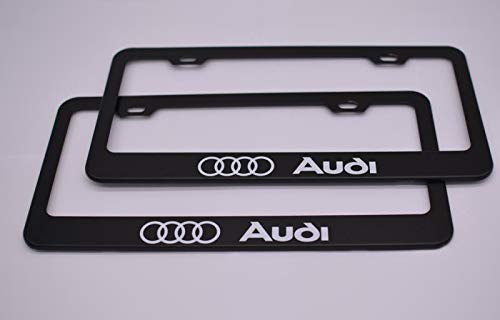 Audi Plate Frame >> Patricon 2 Pieces For Audi Accessory Stainless Steel Matte Aluminum