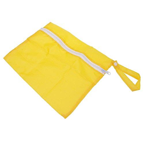 HuntGold Paño del bebé de los bolsos mojados de la cremallera 1PC del pañal inserta el recorrido del totalizador del bolso del almacenaje -- Melocotón Amarillo